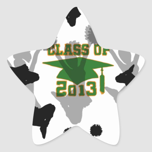 2013 green gold star stickers