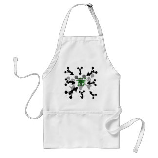 2013 green silver adult apron