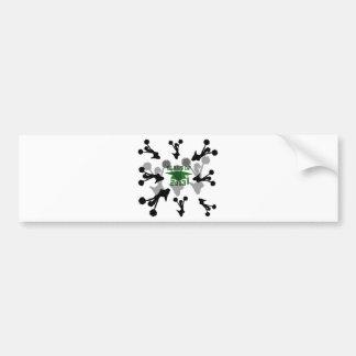 2013 green silver bumper sticker