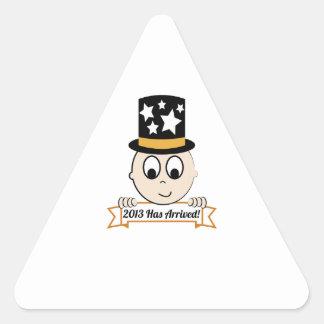 2013 ha llegado pegatinas de triangulo personalizadas