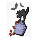 2013 Halloween Scene Personalized Invites