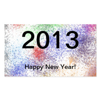 2013 Happy New Year Business Cards