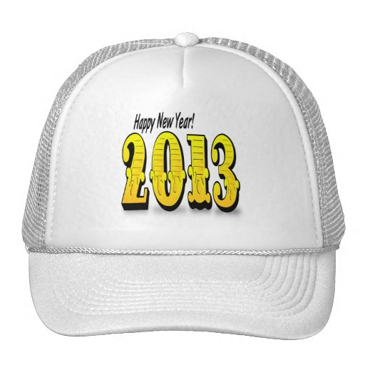 2013 Happy New Year Mesh Hats