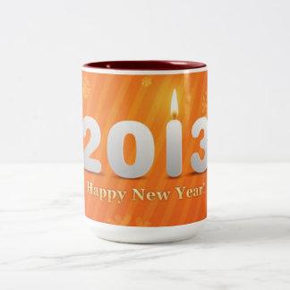 2013 happy New Year Two Tone Mug