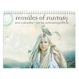 2013 hembras de calendario de la fantasía