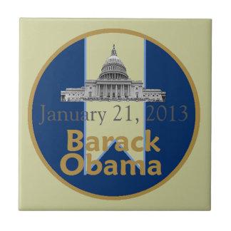2013 inaugural azulejo cuadrado pequeño