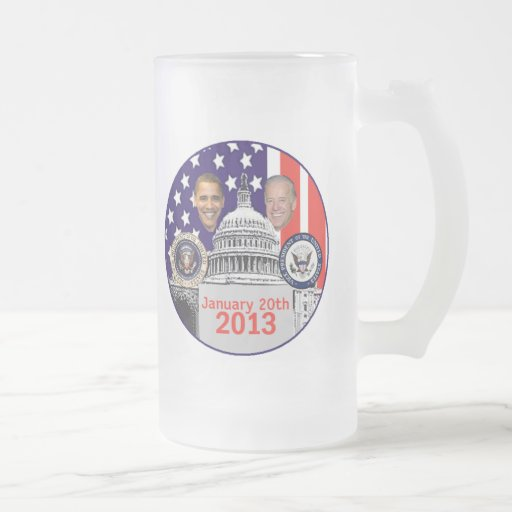 2013 inaugural jarra de cerveza esmerilada