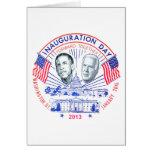 2013 inaugural tarjeta de felicitación
