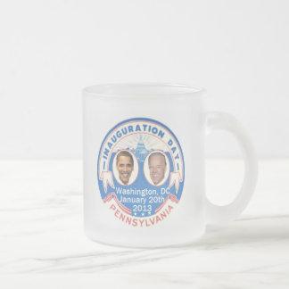 2013 inaugural taza de café esmerilada