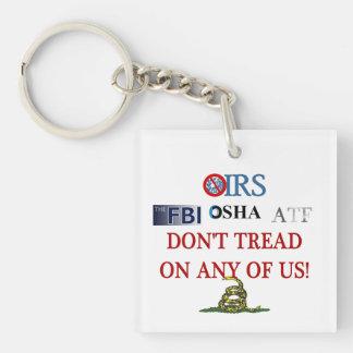 2013 IRS Scandal Single-Sided Square Acrylic Keychain