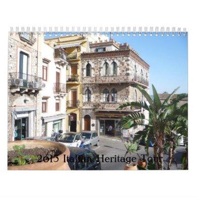 2013 Italian Heritage Tour Wall Calendars