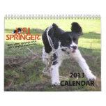 2013 Joyful Springer 12 Month Calendar