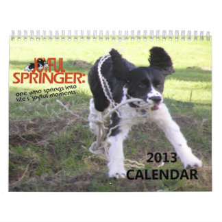 2013 Joyful Springer 12 Month Calendar