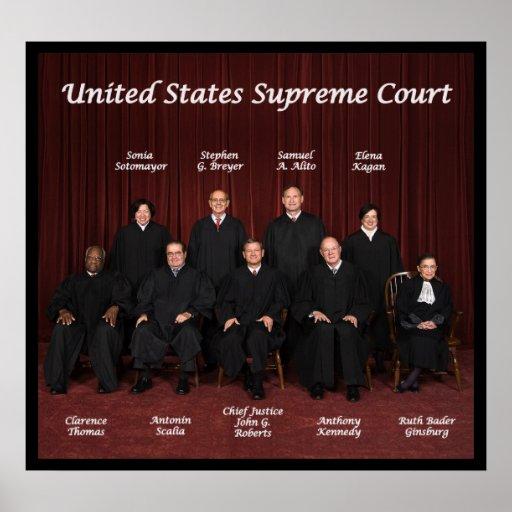 2013 jueces del Tribunal Supremos de Estados Unido Impresiones