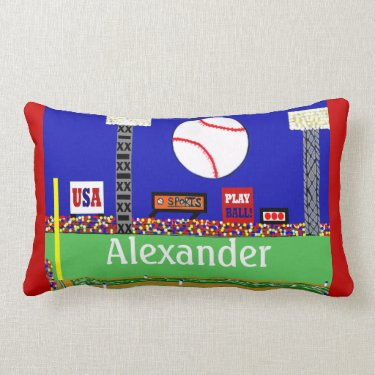 2013 Kids Baseball Personalized Throw Pillow Gift