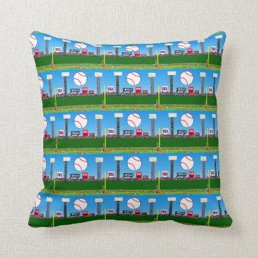2013 Kids Room Baseball Throw Pillow Gift