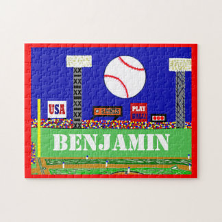 2013 Kids Sports Baseball Puzzle Personalized Gift