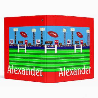 2013 Kids Sports Personalized Football Binder Gift