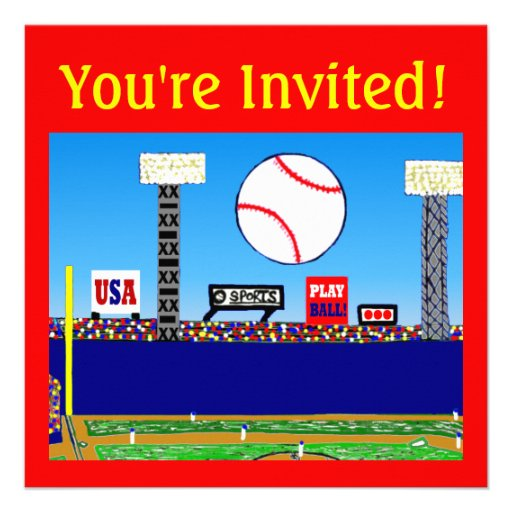 2013 kids sports personalized party invitations 5 25