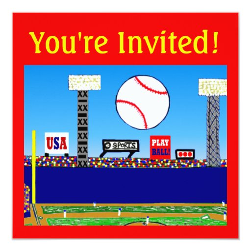 2013 Kids Sports Personalized Party Invitations