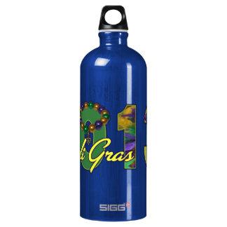 2013 Mardi Gras New Orleans Word Art Aluminum Water Bottle