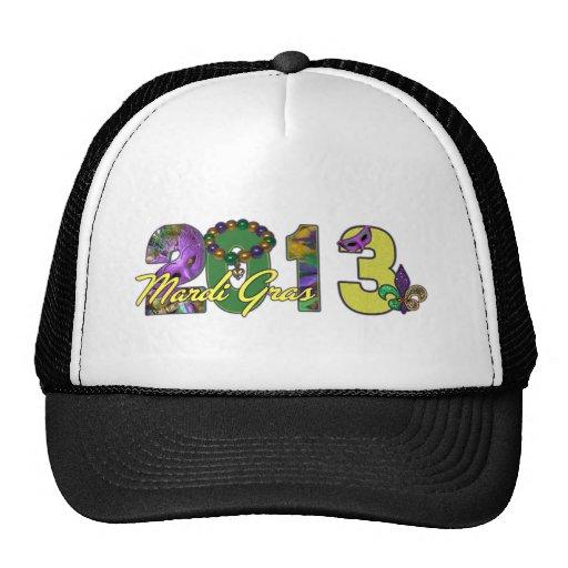 2013 Mardi Gras New Orleans Word Art Mesh Hats