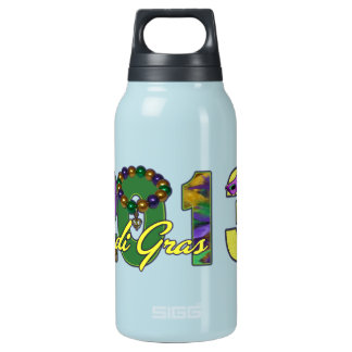 2013 Mardi Gras New Orleans Word Art Insulated Water Bottle