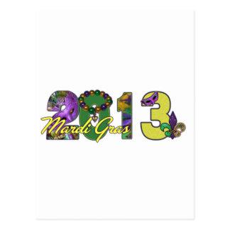 2013 Mardi Gras New Orleans Word Art Postcard