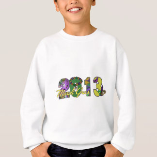 2013 Mardi Gras New Orleans Word Art Sweatshirt