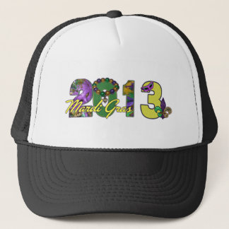 2013 Mardi Gras New Orleans Word Art Trucker Hat