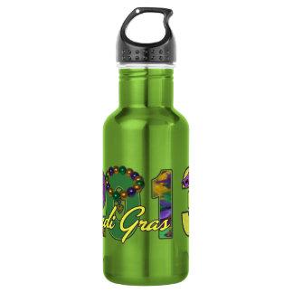 2013 Mardi Gras New Orleans Word Art Water Bottle