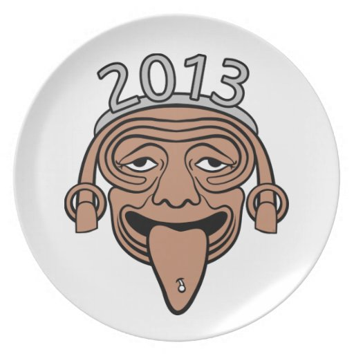 2013 Mayan Party Guy Dinner Plate