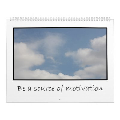 2013 Messages of Volunteer Motivation Calendar from Zazzle.com