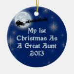 2013 mi 1r navidad como gran tía ornamente de reyes