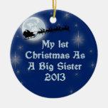 2013 mi 1r navidad como hermana grande ornamentos de reyes
