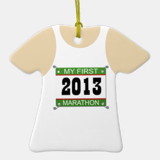 2013 mi primer ornamento del maratón adorno para reyes