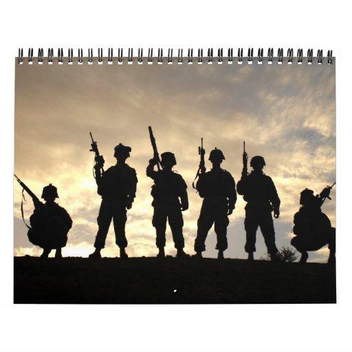 2013 Military Silhouettes Wall Calendar