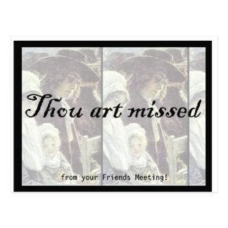2013 mini calendario - arte de mil faltado postal