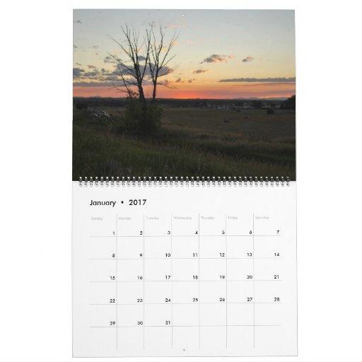 2013 Montana Scenery Sunset Photography Calendar