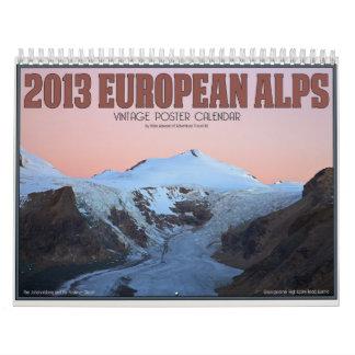 2013 montañas europeas calendario
