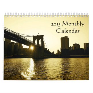 2013 Monthly Calendar by Aria Images Photography