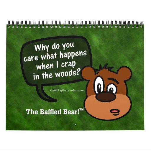 2013 Mysterious Questions of Baffled Bear Humor Calendar