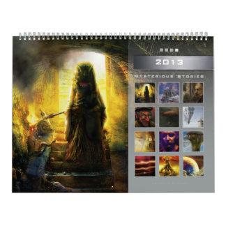 2013 Mysterious Stories 4 - Huge Wall Calendar
