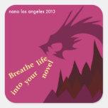 2013 NaNoLA - Breathe Life into Your Novel Square Sticker
