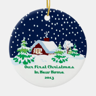 2013 New Home Christmas Cottage Ornaments