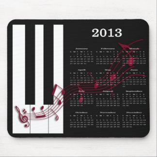 2013 notas de la música del piano del cojín de rat tapete de ratón