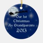 2013 nuestro 1r navidad como abuelos adorno de navidad