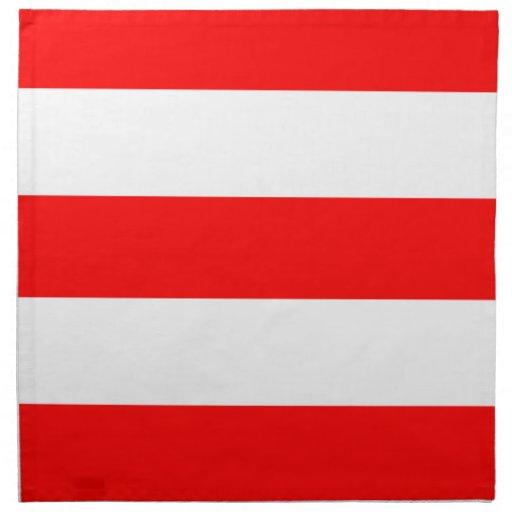 2013 nuevas servilletas de cena rojas y blancas de