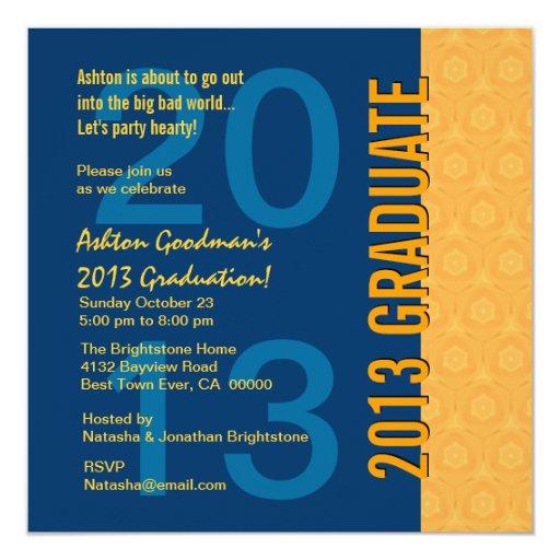 """2013 o cuaesquiera oros azules G436 de la Invitación 5.25"""" X 5.25"""""""