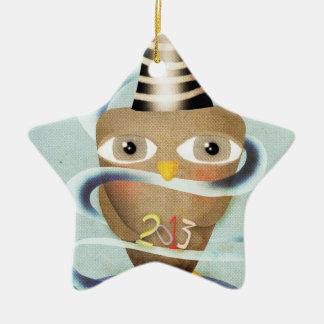2013 Owl Ceramic Ornament
